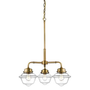 Clara 3-Light Shaded Chandelier