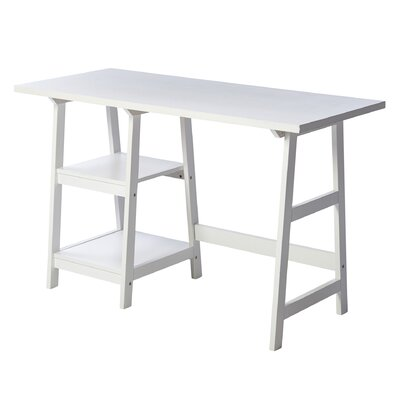 Andrew 2 Shelf Writing Desk by Andover Mills