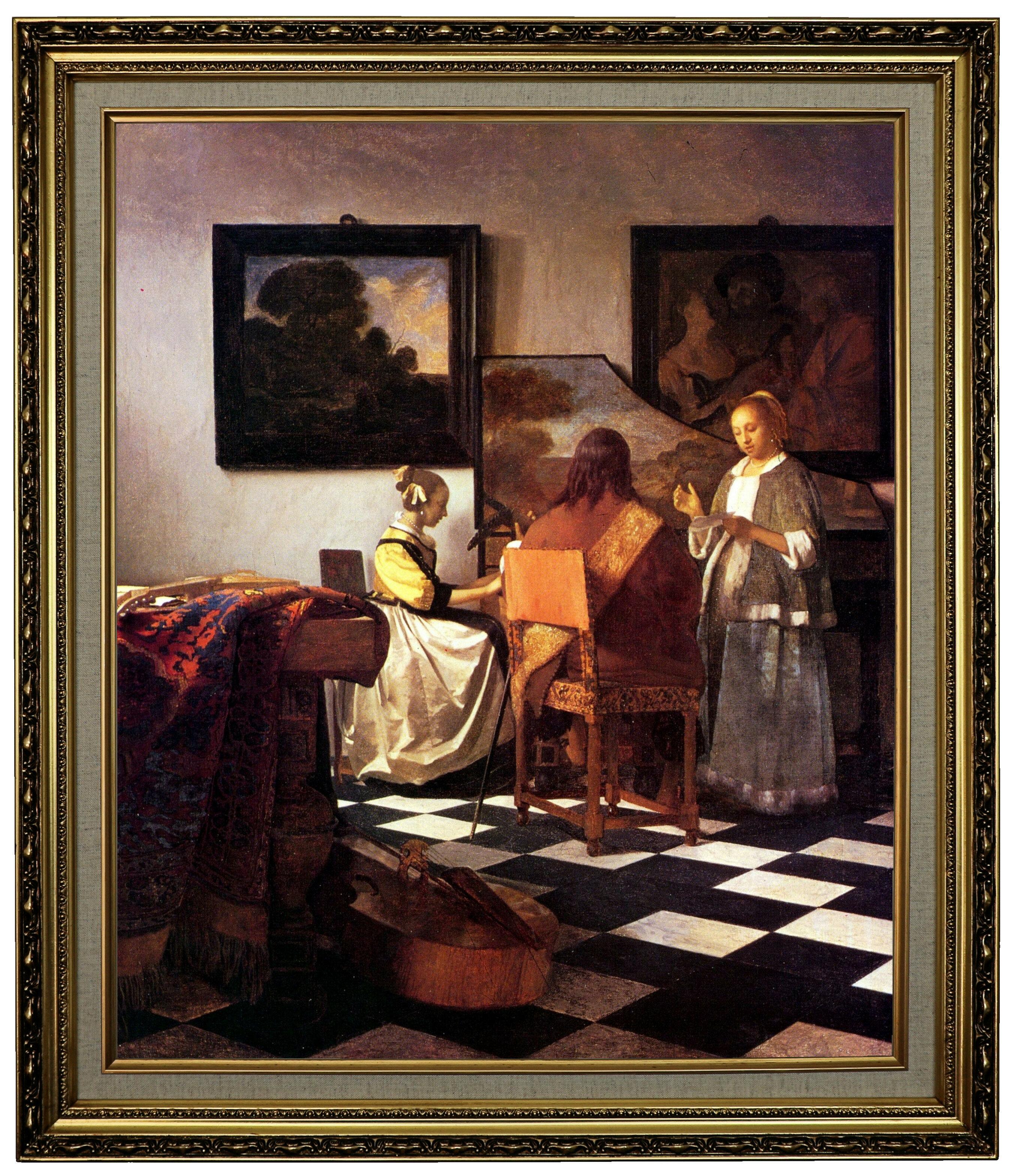 Vault W Artwork The Concert Stolen Framed Oil Painting Print On Canvas Wayfair