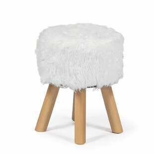 Magnificent Leander Faux Wool Fur Round Decorative Vanity Stool Ocoug Best Dining Table And Chair Ideas Images Ocougorg