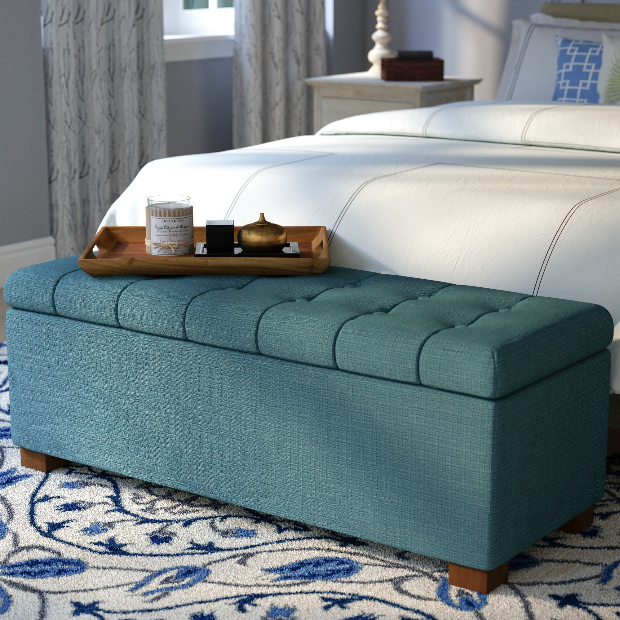 Ravenwood Upholstered Flip Top Storage Bench