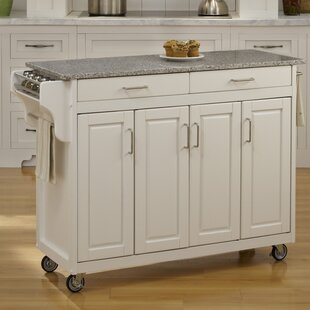 Campuzano Kitchen Island with Granite Top Charlton Home
