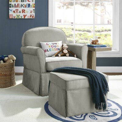 Enjoyable Viv Rae Polly Swivel Glider Ottoman Color Light Gray Gamerscity Chair Design For Home Gamerscityorg