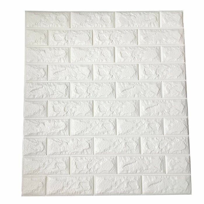 Horrell 30 L X 28 W Embossed Paintable 20 Panel And Stick Wallpaper