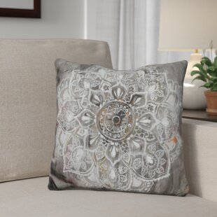 Ginsburg Mandala in Neutral Throw Pillow by Winston Porter