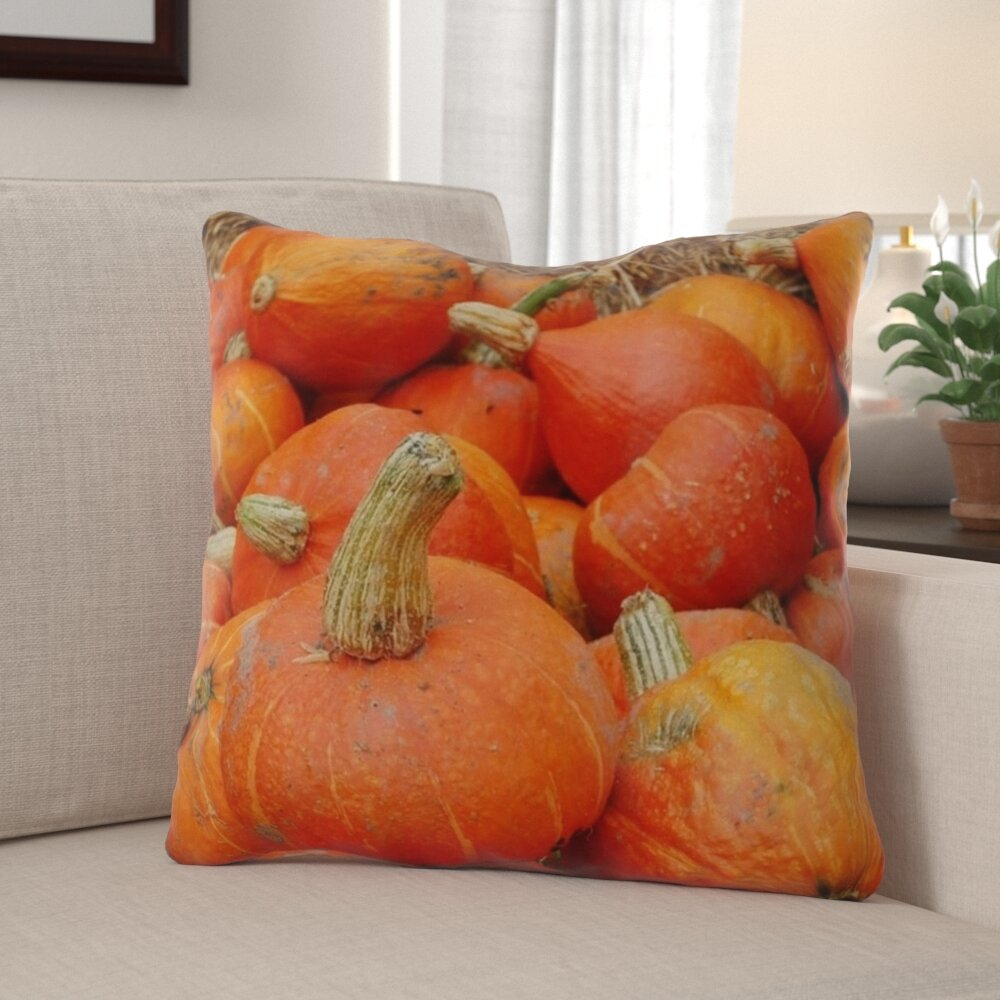 The Holiday Aisle Greear Pumpkin Indoor Outdoor Throw Pillow Wayfair