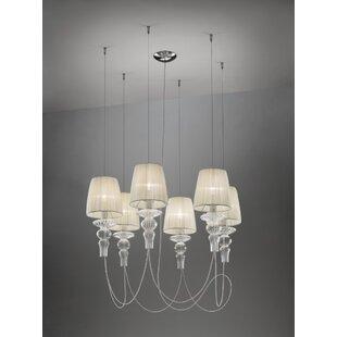 Gadora 6-Light Cluster Pendant by Evi Style