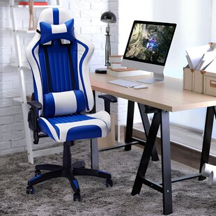 Osorio Ergonomic Leather Gaming Chair by Latitude Run Herry Up