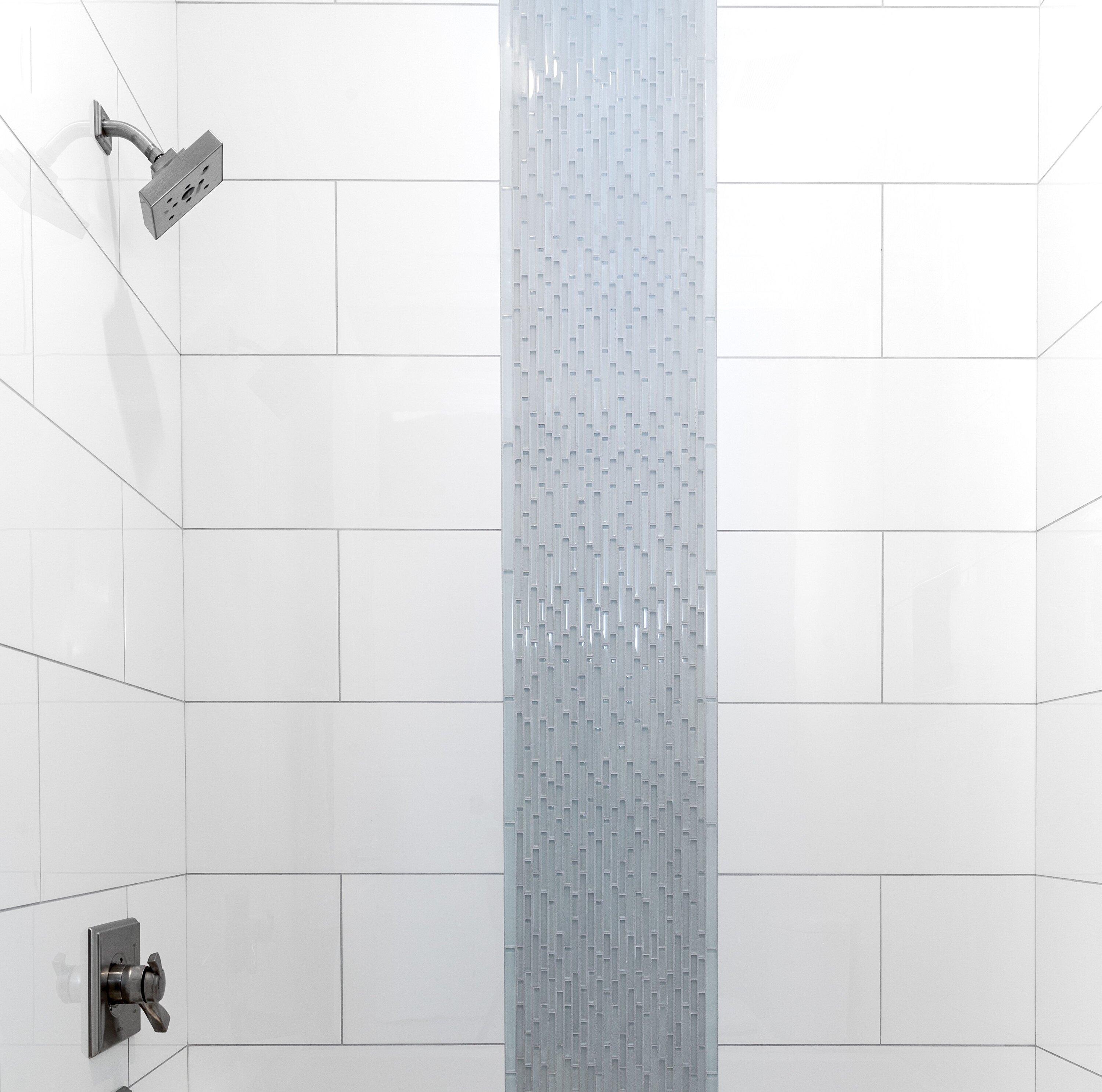 Emser Tile Style Random Sized Porcelain Mosaic Tile in Pure White ...