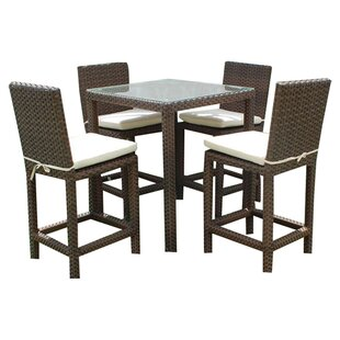 Wrisley 5 Piece Bar Height Dining Set with Cushion