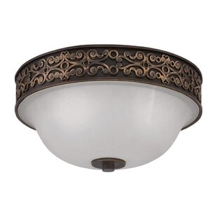 Fleur De Lis Living Buteau 2-Light Flush Mount