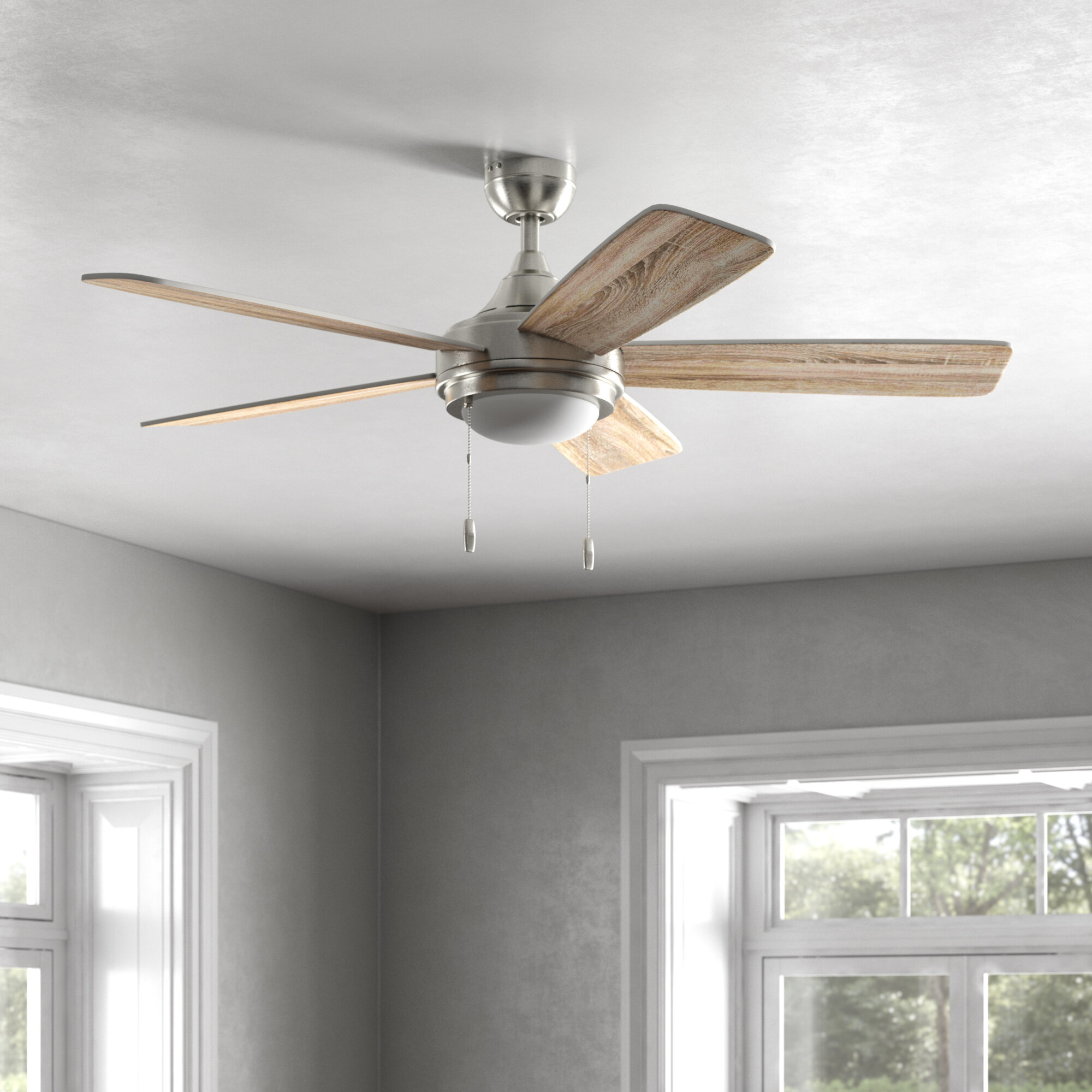 Breakwater Bay Pippin Led Standard Ceiling Fan With Pull Chain And Light Kit Included Reviews Wayfair