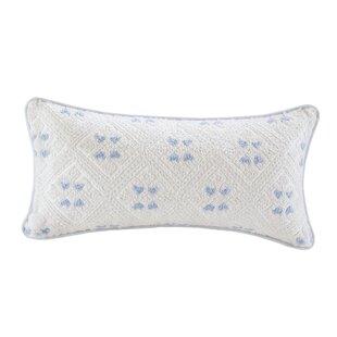 Ravi Embroidered Oblong 100% Cotton Lumbar Pillow