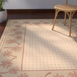 Amaryllis Ivory/Rust Indoor/Outdoor Area Rug