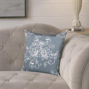 Cecilia Morning Birds Floral Print Throw Pillow