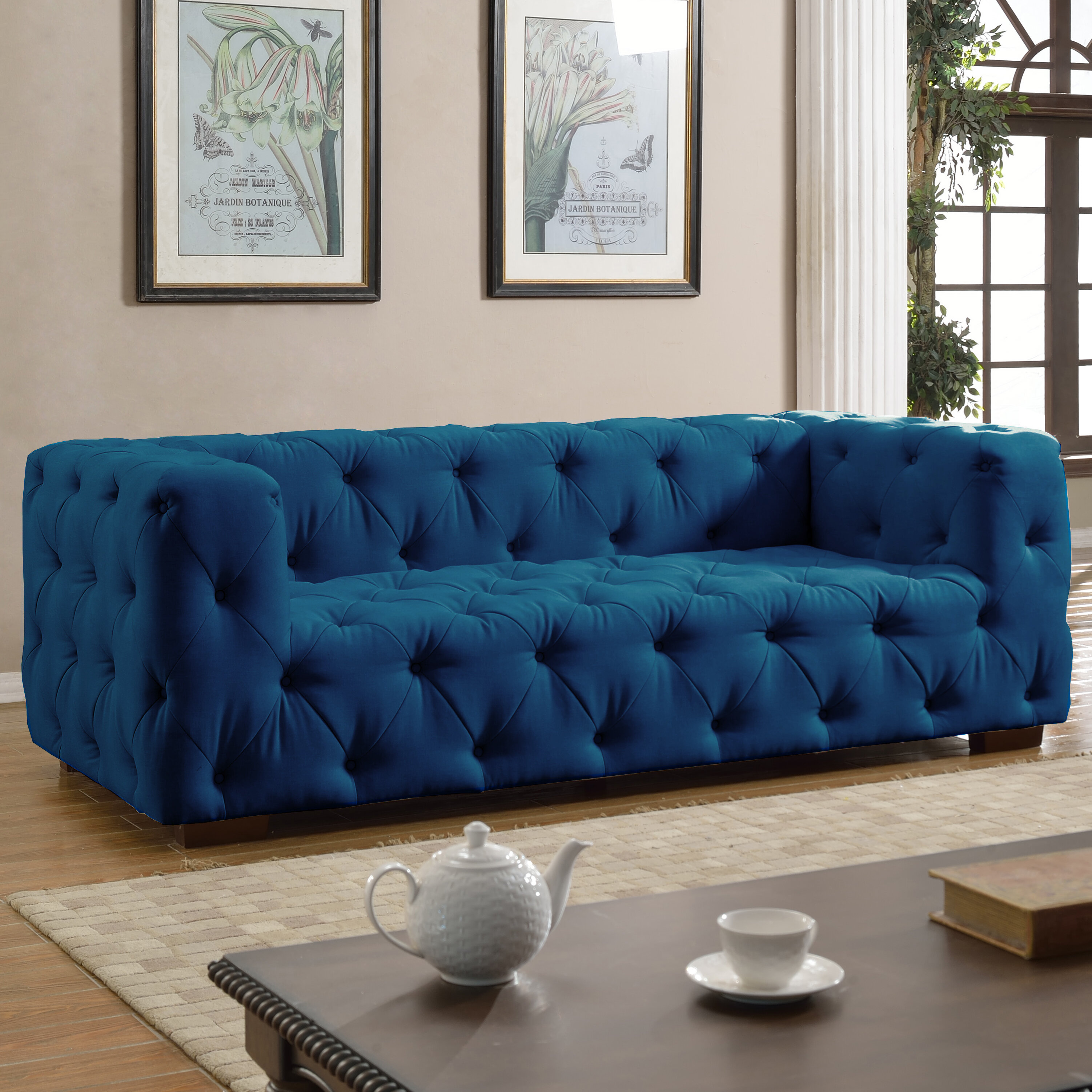 Abadie Tufted Large Chesterfield Sofa & Reviews | Birch Lane