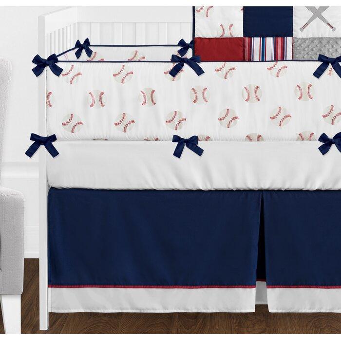 Baseball Patch 9 Piece Crib Bedding Set