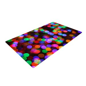 Maynard Logan Lights II Black/Pink Area Rug