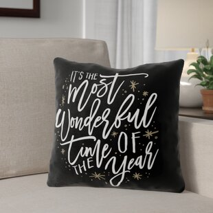 The Most Wonderful Time Throw Pillow