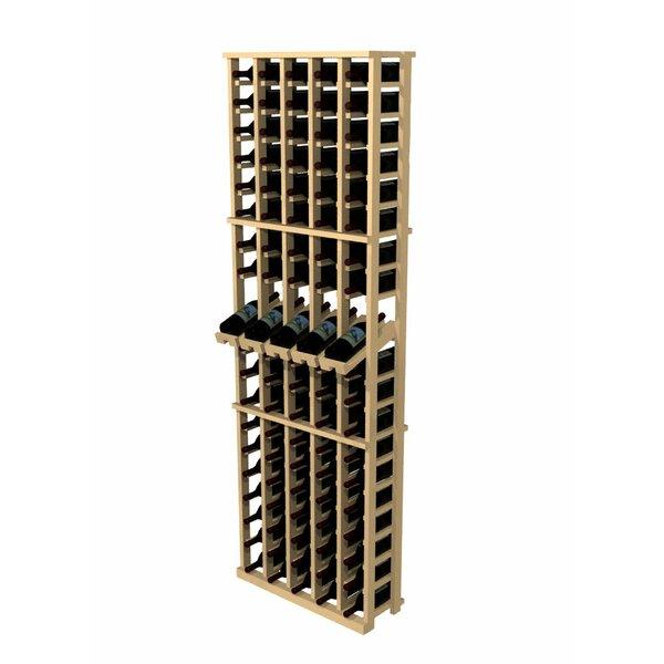 wine cellar rustic pine 100 bottle wall mounted wine rack u0026 reviews wayfair