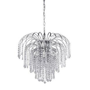 Willa Arlo Interiors Hermilda 4-Light Crystal Chandelier