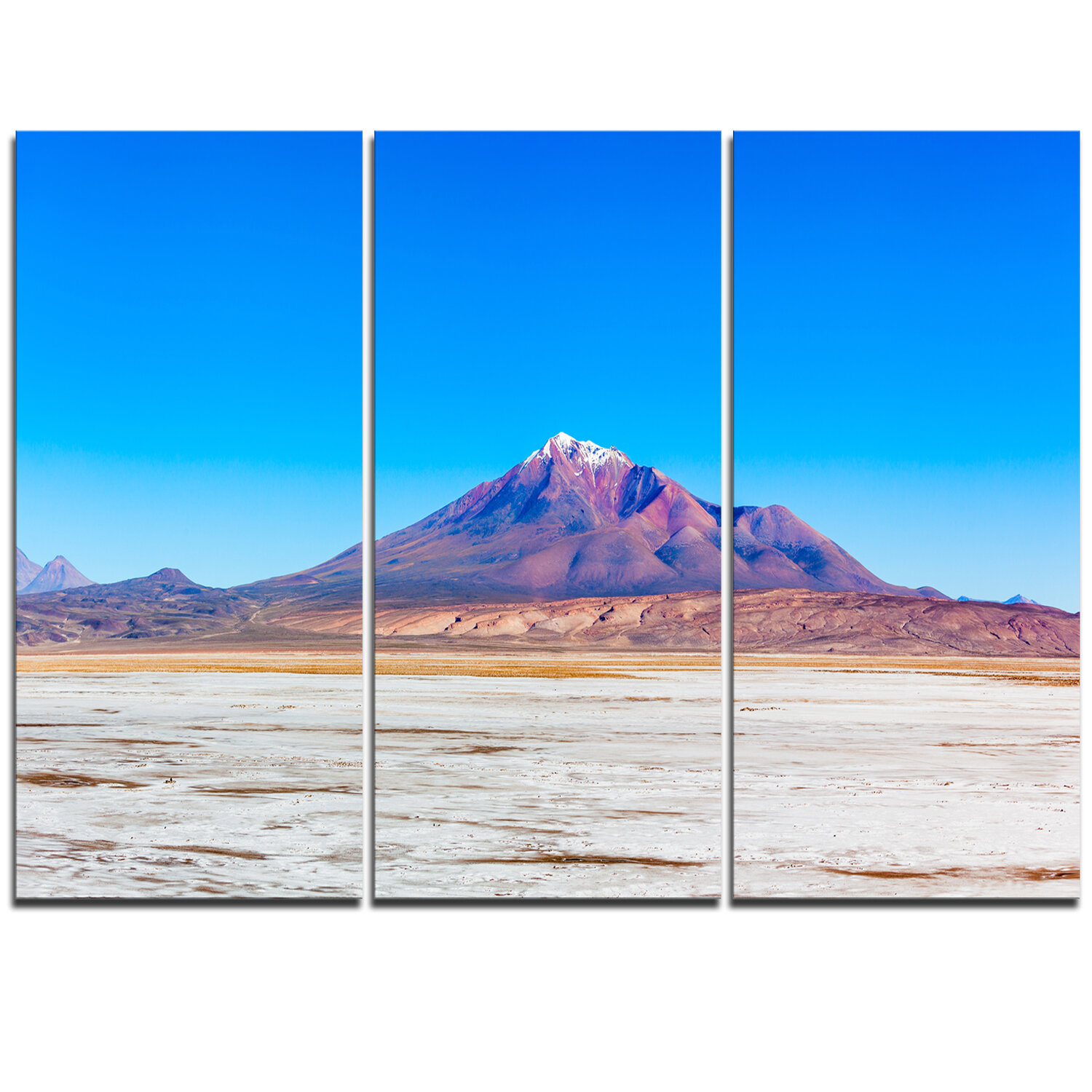 Designart Altiplano Near Uyuni Panorama 3 Piece Graphic Art On Wrapped Canvas Set Wayfair