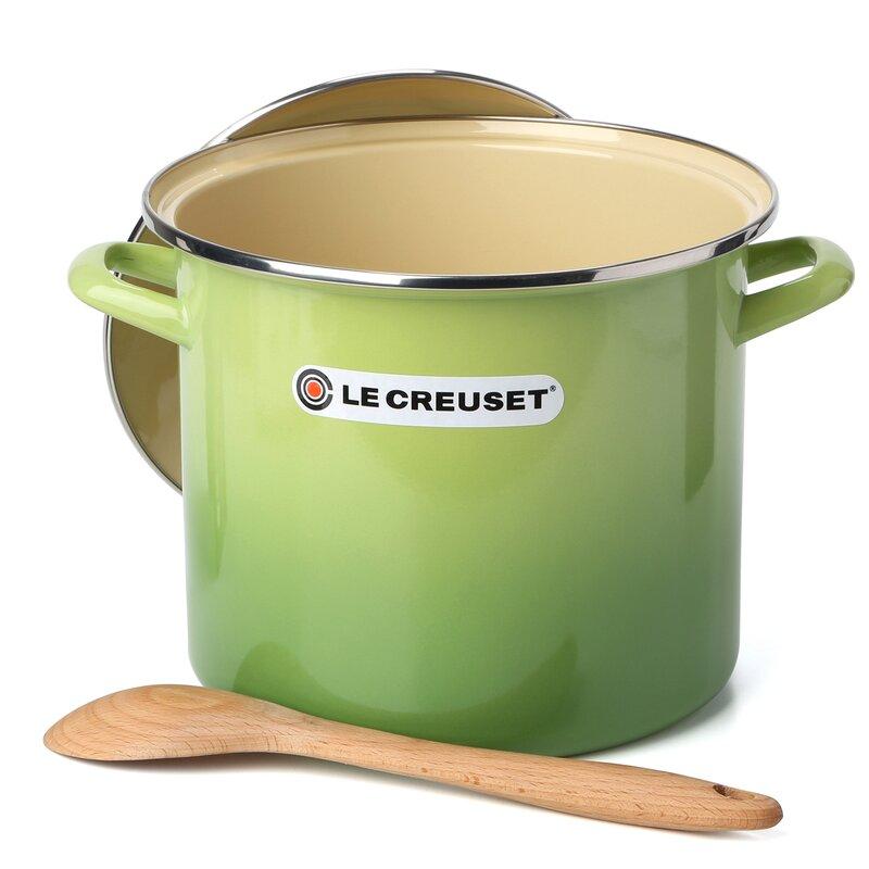 2e71ea81c6eb Wayfair   Le Creuset Enamel On Steel Stock Pot with Lid