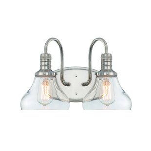 Check Prices Wall Street 2-Light Vanity Light By Breakwater Bay