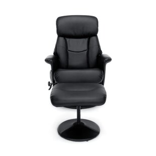 OFM Essentials Heated Massage Executive Chair with Ottoman