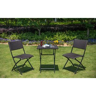 Winston Porter Alliance 3 Piece Bistro Set