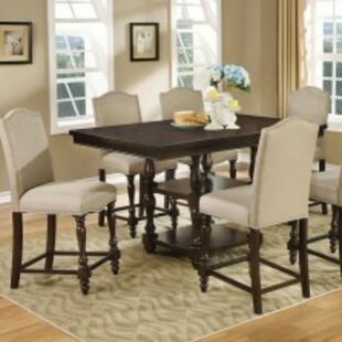 Kaan 7 Piece Counter Height Solid Wood Dining Set