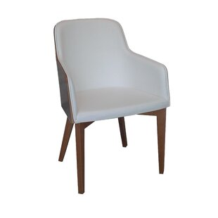 Hudson Arm Chair with Wood Legs in Wool - Beige Nuans