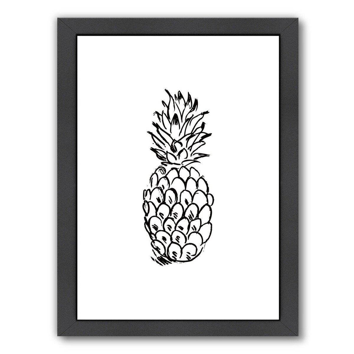 Bay Isle Home Pineapple Framed Graphic Art Wayfair