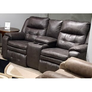 Inspire Reclining Loveseat With Console b..