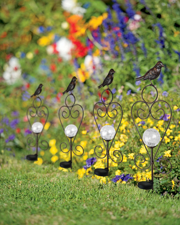 Pelagia Bird Solar Ball Garden Stake