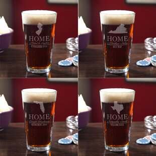 Your Home State 3 Piece Glass Pint Glass Set