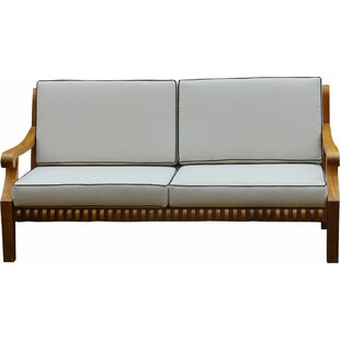 Canora Grey Mueller Teak Love Seat With Cushions