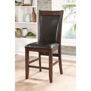 Herbert Counter Height Upholstered Dining Chair (Set of 2) Loon Peak