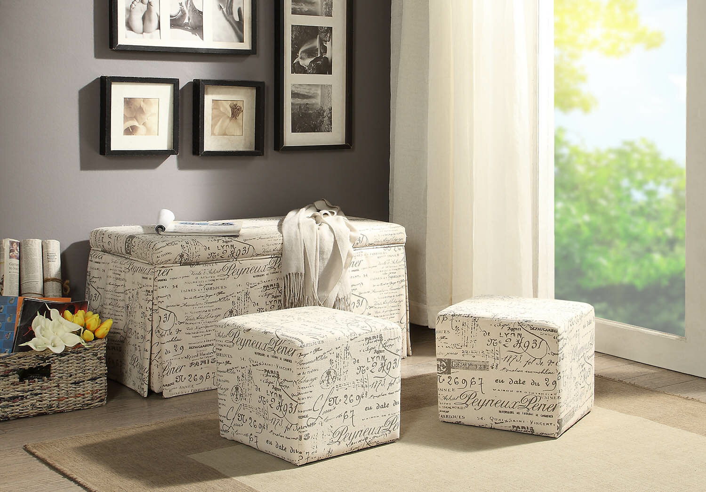 Wondrous Kettner 3 Piece Storage Bench And Ottoman Set Ibusinesslaw Wood Chair Design Ideas Ibusinesslaworg