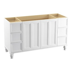 Damask? 60 Vanity with Furniture Legs, 2 Doors and 6 Drawers, Split Top Drawers by Kohler