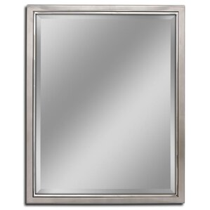 kennith classic metal framed wall mirror - Mirrored Bathroom Vanity