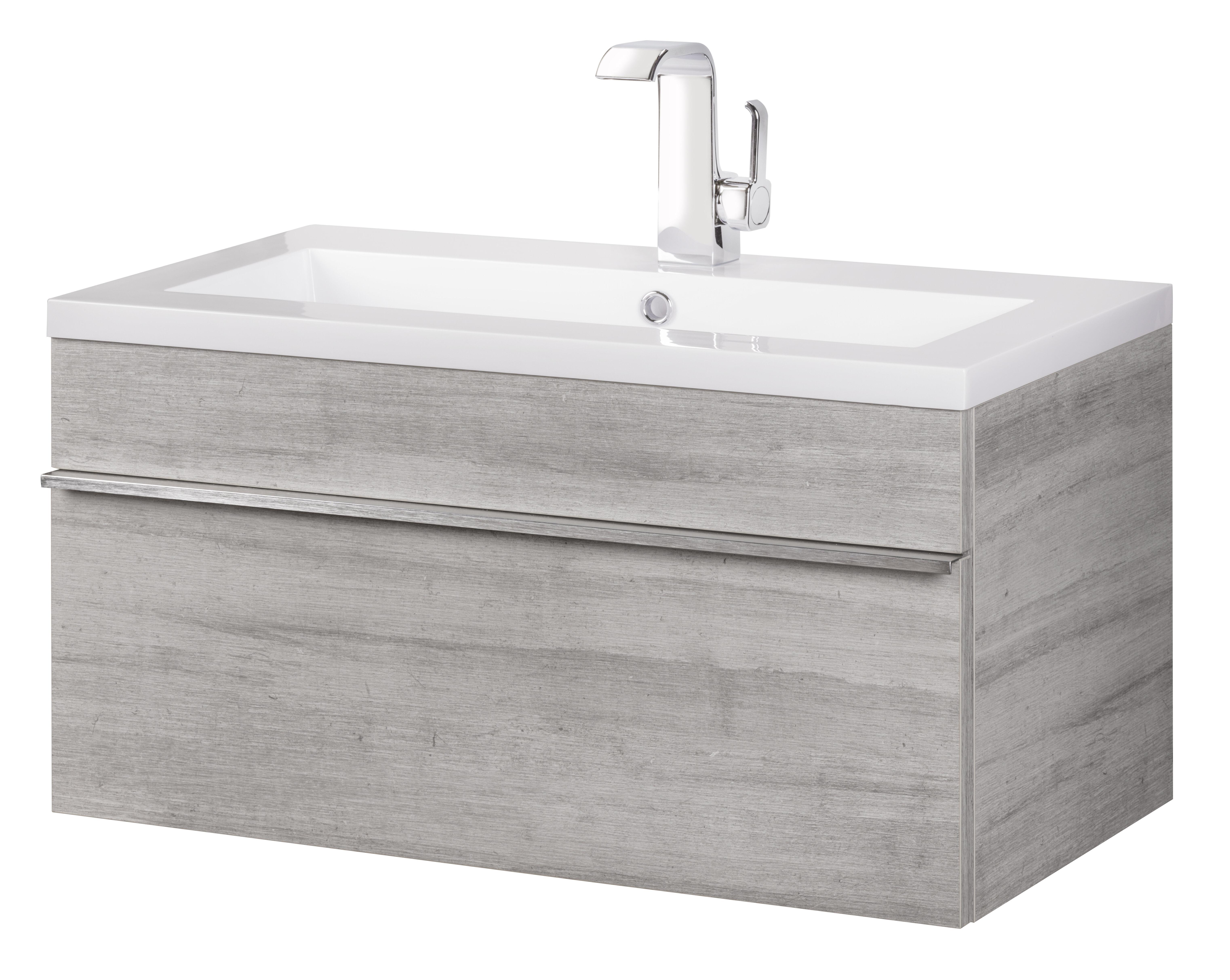 Ivy Bronx Hewlett 30 Wall Mounted Single Bathroom Vanity Set Reviews Wayfair