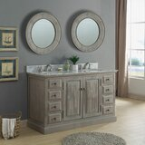 Tuley 60 Double Bathroom Vanity Set with Mirror by Gracie Oaks