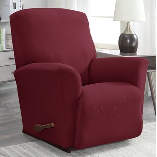 Solid Pique Box Cushion Recliner Slipcover