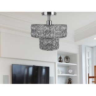 Monico 1-Light Semi Flush Mount by House of Hampton
