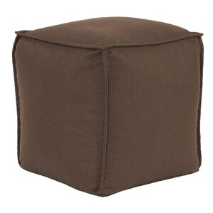 Vena Square Pouf Sterling Ottoman by Highland Dunes