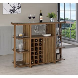 Constandache Bar with Wine Storage by Ebern Designs