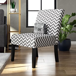 Zipcode Design Maurice Wave Print Fabric Slipper Chair