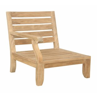 Anderson Teak Riviera Luxe Teak Right Arm Patio Chair with Sunbrella Cushions