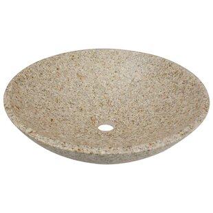 MR Direct Stone Circular Vessel Bathroom Sink